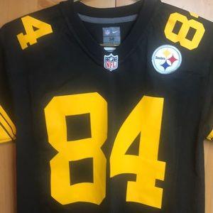 100% authentic 68c5e 0078d Boys medium Antonio brown Pittsburgh Steelers nfl